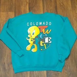 Vintage 1993 Tweety Colorado sweatshirt Large
